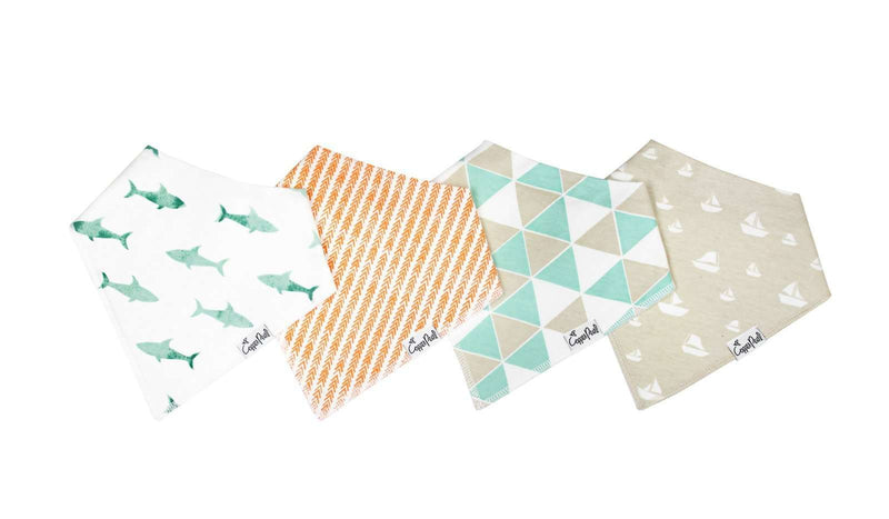 Copper Pearl | Modern Bandanna Bibs 4 Pack ~ Pacific