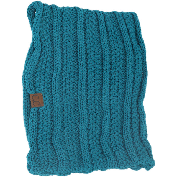 CC Beanie | Adult Knit Infinity Scarf ~ Teal