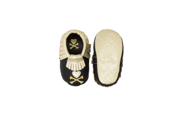 Moc Happens™ Leather Baby Moccasins | tokidoki Hearts & Crossbones