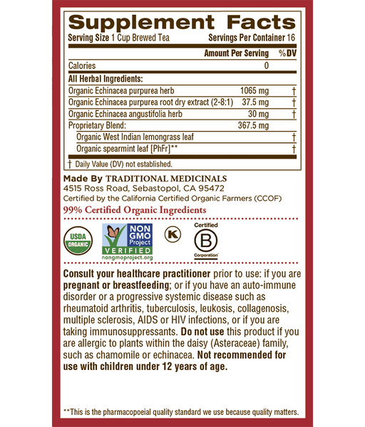 Organic Echinacea Plus Tea by Traditional Medicinals