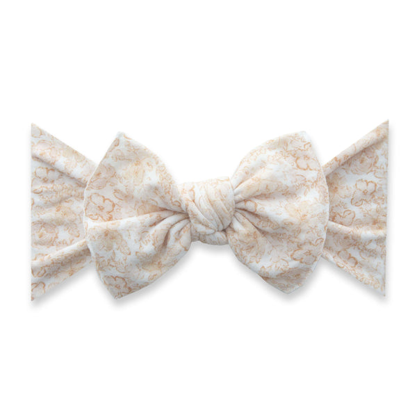 Baby Bling Bows |  Patterned Knot ~ Pretty In Peach