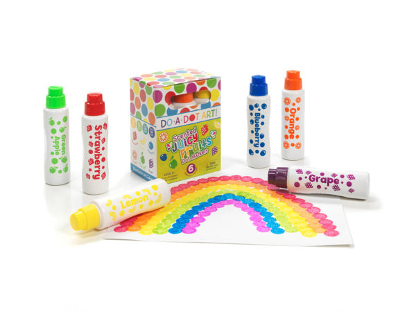 Do A Dot Art | Dot Markers ~ Juicy Fruits 6 pack