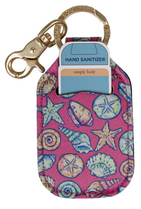 Simply Southern ~ Keychain Sanitizer Sleeve ~ Shell Pink