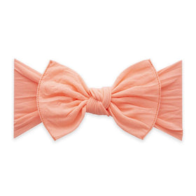 Baby Bling Bows | Classic Knot Headband ~ Neon Coral