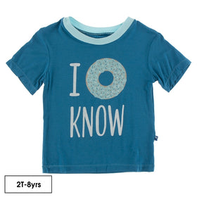Short Sleeve Easy Fit Crew Neck Graphic Tee ~ Seaport I Donut Know