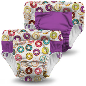 Lil Learnerz Training Pants & Swim Diaper 2 pk - Frosted & Orchid