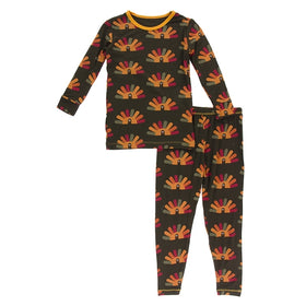 Kickee Pants Print Long Sleeve Pajama Set | Bark Turkey