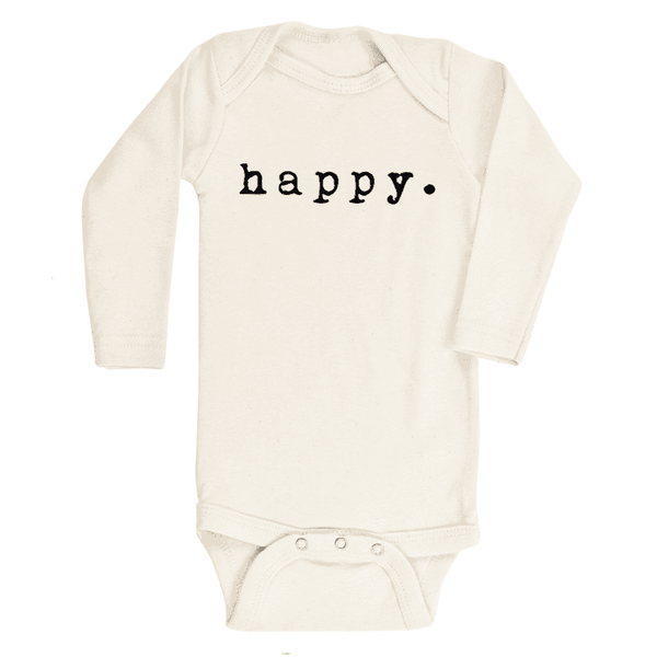 Tenth & Pine  -  Happy Organic Long Sleeve Onesie