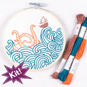PopLush Embroidery | The Kraken! Embroidery Kit
