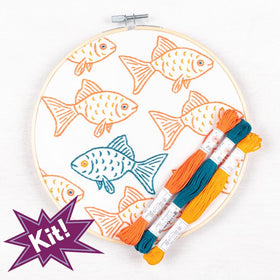 PopLush Embroidery | Happy Misfit Embroidery Kit