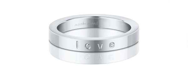 MantraBand - Silver Ring / Necklace ~ Love