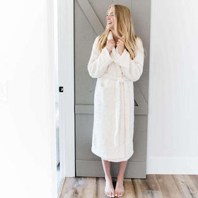 Saranoni Cozy Bamboni Robes for Men and Women ~ Ivory