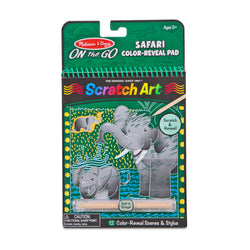 Melissa & Doug | On the Go Scratch Art Color Reveal Pad - Safari
