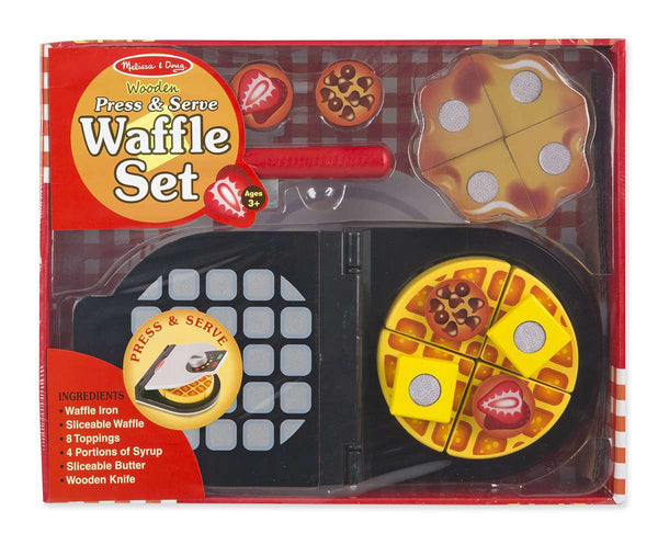 Melissa & Doug | Wooden Play food | Waffle Set