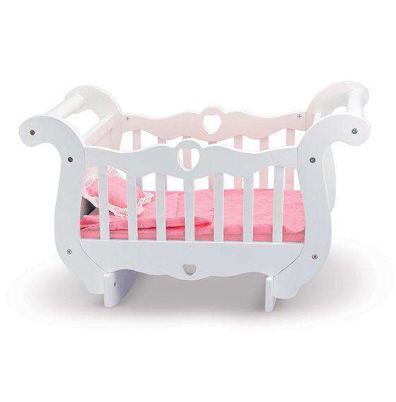 Melissa & Doug |  Wooden Doll Crib