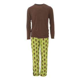 Kickee Pants | Men's Long Sleeve Pajama Set ~ Meadow Bad Moose
