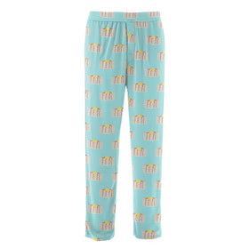 Kickee Pants | Men's Pajama Pants ~ Summer Sky Pancakes