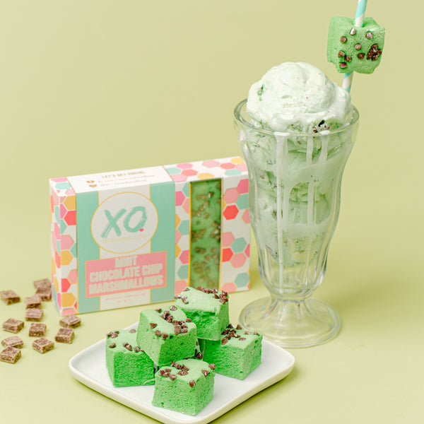 XO Marshmallow - Mint Chocolate Chip Marshmallows
