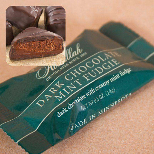 Abdallah Chocolate ~ 10 Piece Dark Chocolate Mint Fudgie