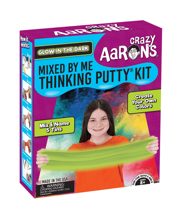 Crazy Aaron's Thinking Putty | Glow in the Dark Mixed By Me Kit