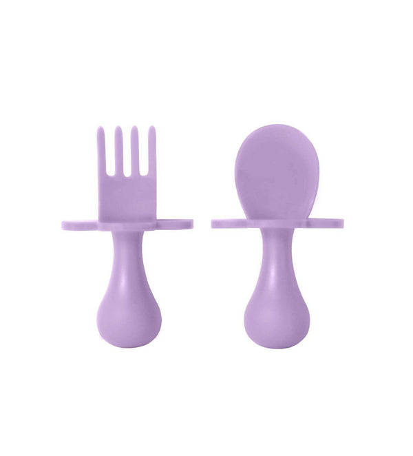 Grabease | First Self Feeding Utensil Set ~ Lavender