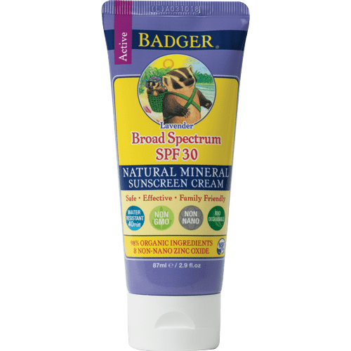 Badger Healthy Body Care ~ Lavender Sunscreen - SPF30