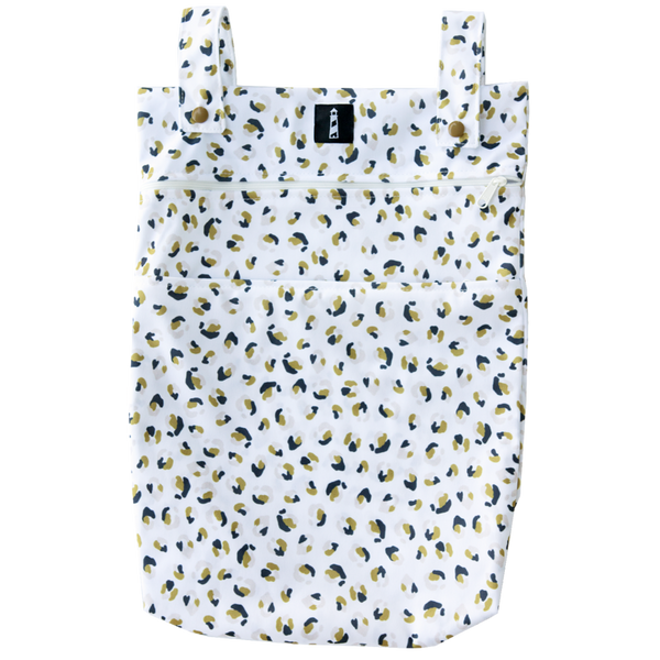 Lighthouse Kids Company | Double Pocket Medium Wetbag ~ Neutral Nature Cheetah