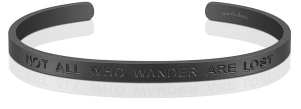 MantraBand For Him | Not All Who Wander Are Lost