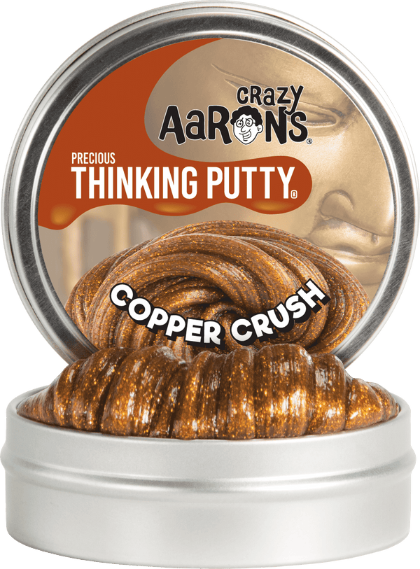 Crazy Aaron's Thinking Putty | Precious Gems ~ Copper Crush 1.6 oz