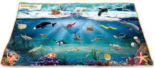 Safari LTD | Wild Safari Sealife ~ OCEAN PLAYMAT 24