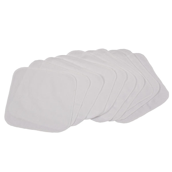 Smart Bottoms Wipes 10 Pack Solid White