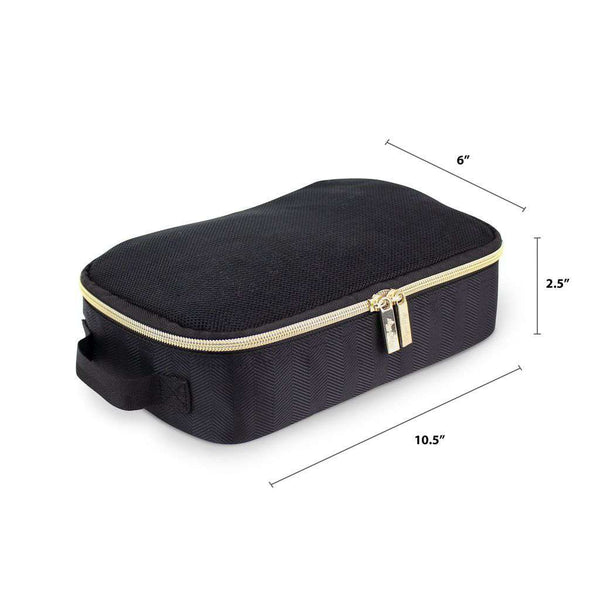 Itzy Ritzy | Pack Like A Boss Packing Cubes ~ Black / Gold