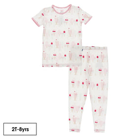 Kickee Pants Print Short Sleeve Pajama Set | Natural Ice Cream Shop