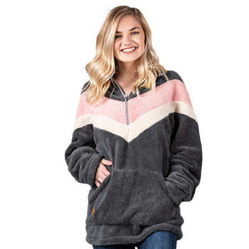 Simply Southern | Sherpa 3/4 Zip ~ Heather Rose Color Block