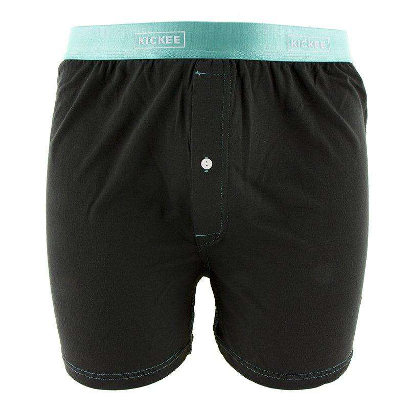 Kickee Pants Solid Men's Boxer Short | Zebra With Glass