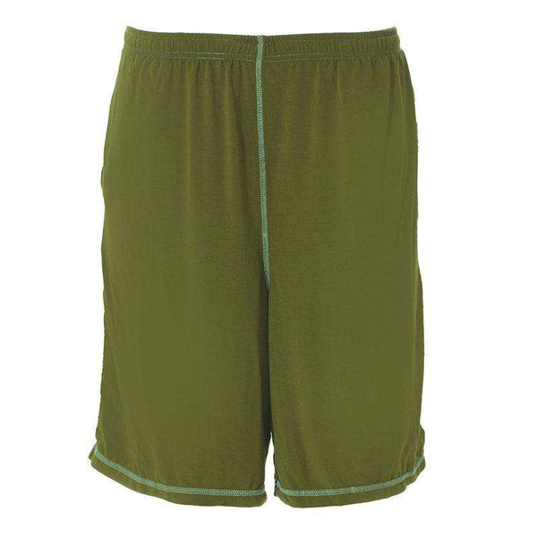 Kickee Pants | Men's Solid Sport Short ~ Pesto With Glass