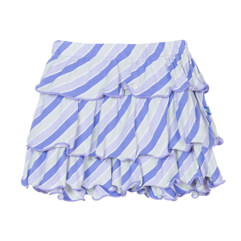 Kickee Pants Layered Ruffle Skirt | Girl Tropical Stripe *final sale*