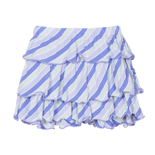 Kickee Pants Layered Ruffle Skirt | Girl Tropical Stripe