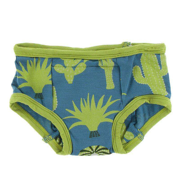 Kickee Pants Training Pants Set |  Cancun Sea Glass Cactus Stripe