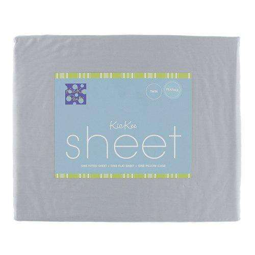 Kickee Pants Solid Woven Sheet Set | Feather