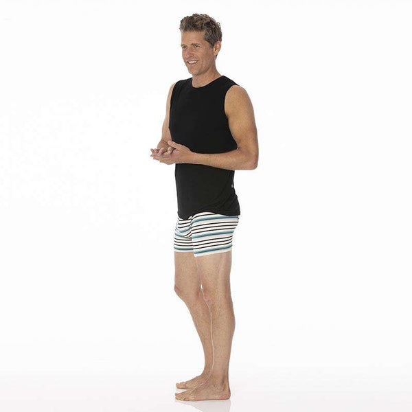 Kickee Pants Men's Boxer Brief | Neptune Stripe