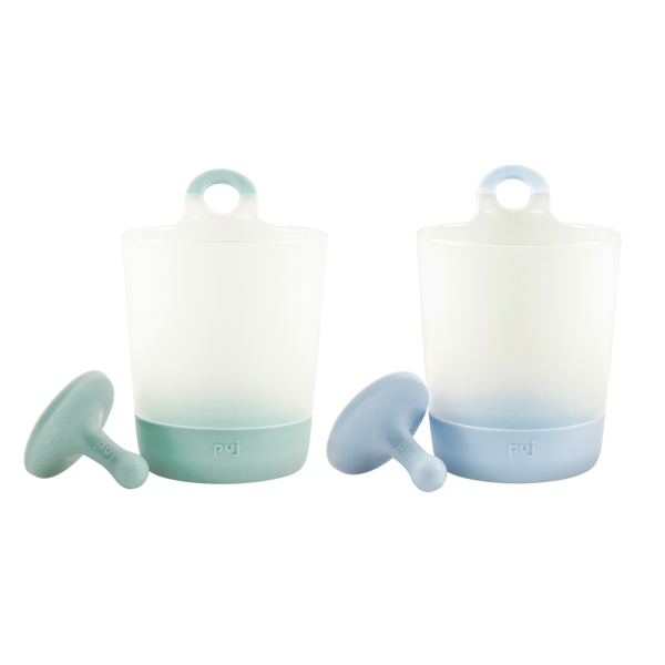 puj phillup | 2 pack hangable kids cups ~ Sage & Periwinkle