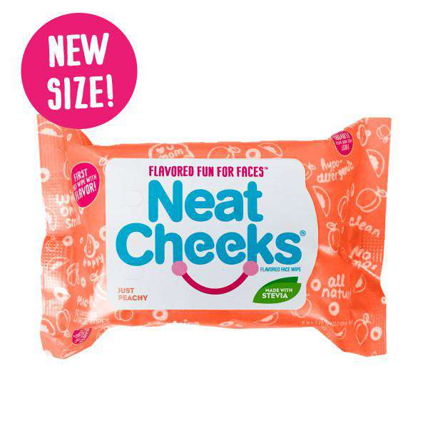 NeatCheeks Wipes Peach | 2 Packages