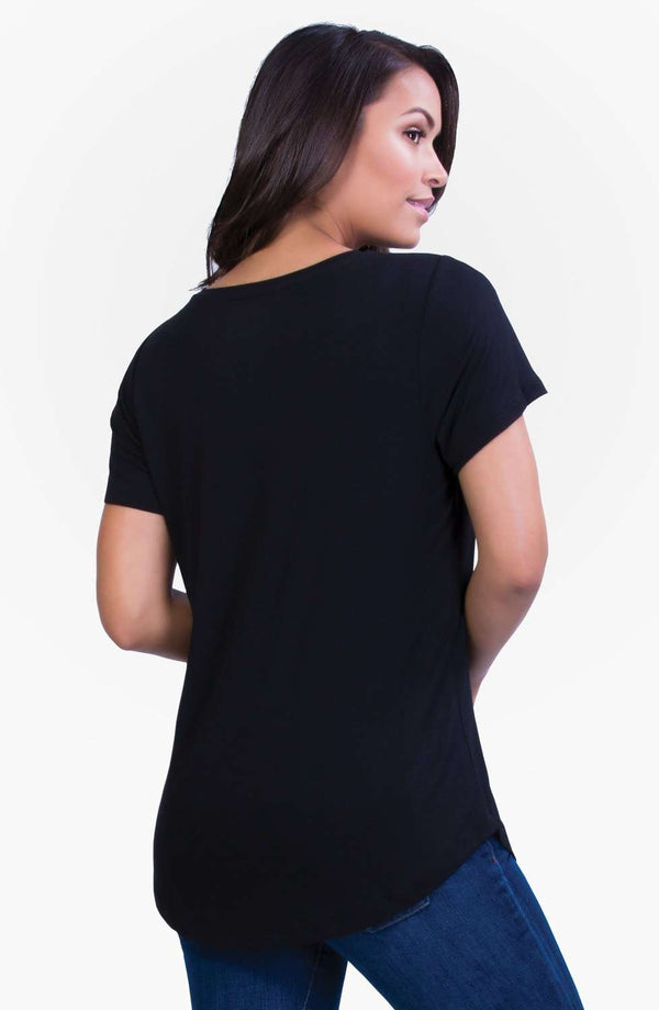 Belly Bandit | Perfect Nursing Collection | Black Perfect Nursing Tee