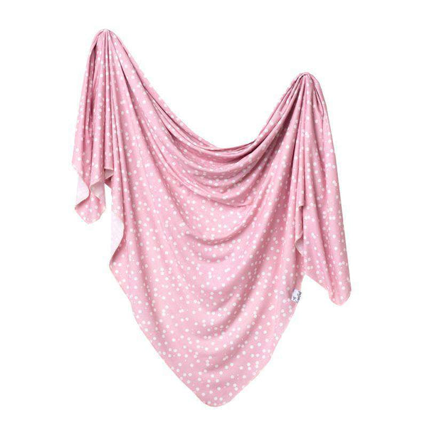 Copper Pearl |  Knit Swaddle Blanket ~ Lucy