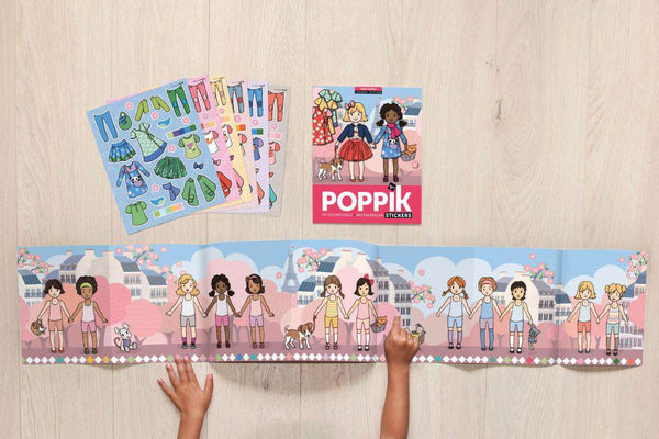 Poppik | Poster + 200 Stickers ~ Girl Fashion