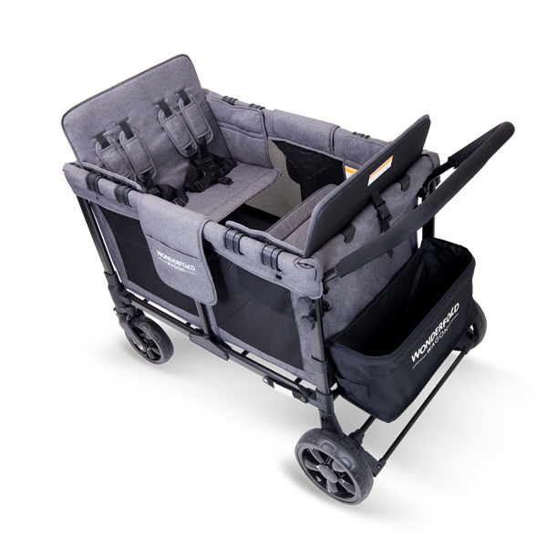 W4 Multi-Function 4-Passenger Quad Stroller Wagon ~ Grey *ships mid May*