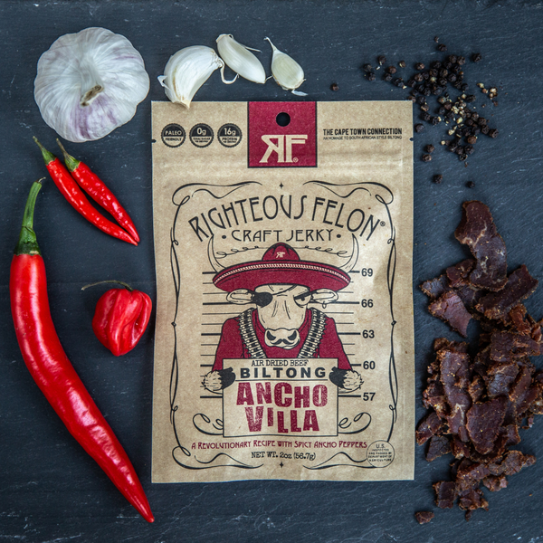 Righteous Felon Craft Jerky  - Ancho Villa Biltong
