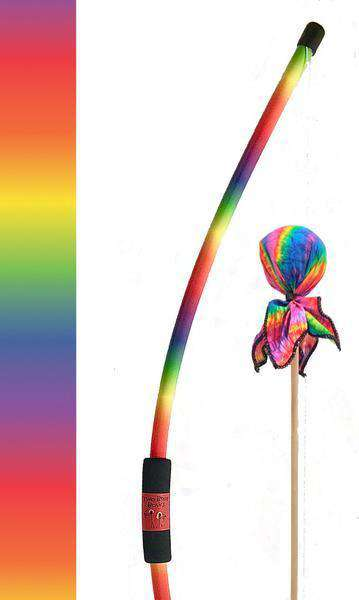 Two Bros Bows | RAINBOW BOW WITH TIE-DYE ARROW