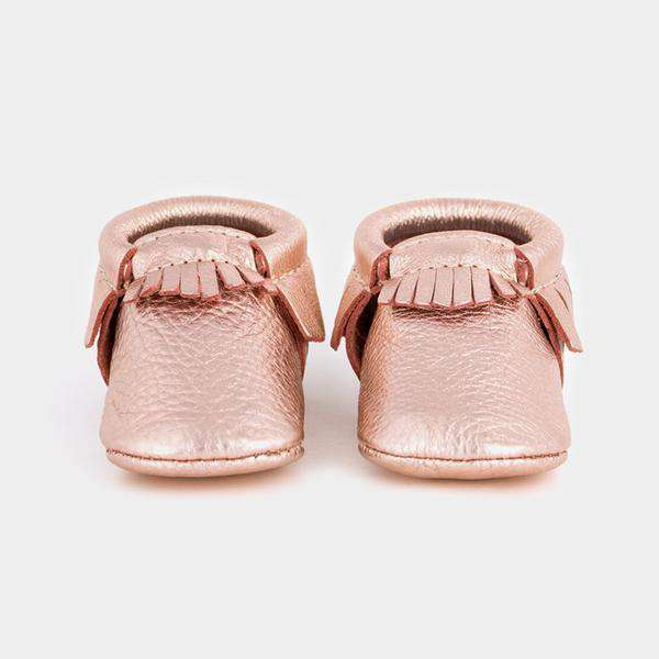 Freshly Picked | Newborn Moccs ~ Rose Gold